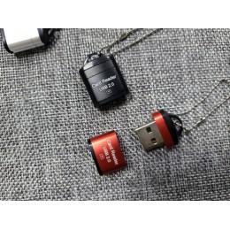 迷你USB讀卡器micro SD/TF手機內存卡讀卡器(顏色隨機) J-14731
