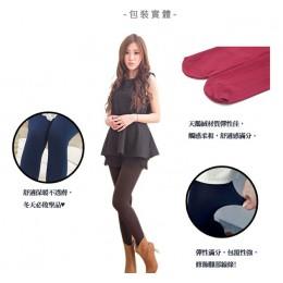 天鵝絨加厚款保暖毛褲襪(棗紅色) J-13366