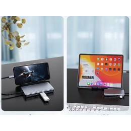 品名: 11合一 Hub轉接器 轉USB3.0 USB C HDMI VGA RJ45 網路線 SD TF多功能集線器(顏色隨機) J-14522 全新 G-3241