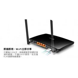 TP-Link TL-MR6400 300Mbps 4G LTE SIM卡無線網絡家用wifi路由器(分享器) 全新 G-2574