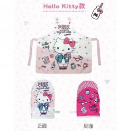 7-11 限量圍裙+隔熱手套組-Hello Kitty款 全新 G-1381