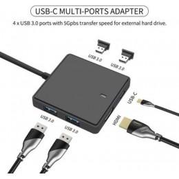 品名: TYPE-C TO HDMI母頭六合一4K30HZ(顏色隨機) J-14573 全新 G-5423