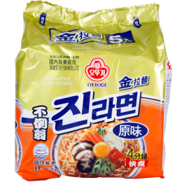 金拉麵(原味)진라면순한맛 120g/5包 全新 G-6555